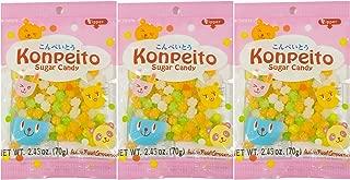 Konpeito Sugar Candy 2.46 oz, 3 bags pack bundle Japan