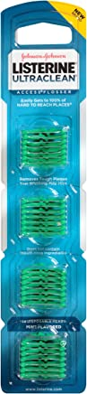 Listerine Ultraclean Access Disposable Snap-On Flosser Refill Heads For Proper Oral Care, Mint Flavored, 28 Count