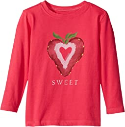 Life is Good Kids - Sweet Strawberry Long Sleeve Crusher Tee (Toddler)
