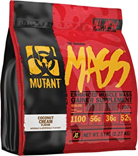 Mutant Mass Weight Gainer Protein Powder – Build Muscle Size and Strength with 1100 Calories – 56 g Protein – 26.1 g EAAs – 12.2 g of BCAAs – 5 lbs with 24 Servings – Coconut Cream