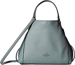 Polished Pebble Leather Edie 28 Shoulder Bag