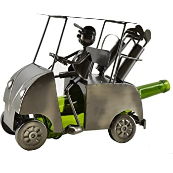 WINE BODIES Golf Cart Wine Bottle Holder, Charcoal