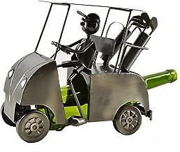 WINE BODIES ZA413 Golf Cart Wine Bottle Holder, Charcoal