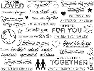 Hero Arts Photopolymer Clear Stamp, You are Loved Messages