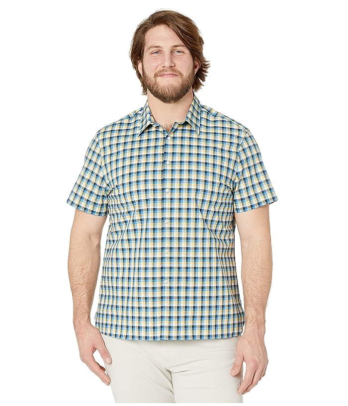 Perry Ellis Portfolio  Check Stretch Shirt (Misted Yellow) Mens Clothing