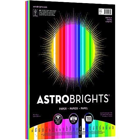 "Astrobrights Color Paper, 8.5"" x 11"", 24 lb/89 gsm,""Spectrum"" 25-Color Assortment, 150 Sheets (80933-01)"