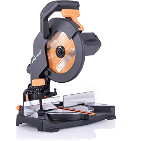 Evolution Power Tools - Scie à Onglet Mixte Multi-Matériaux R210CMS, 210 mm (230 V)
