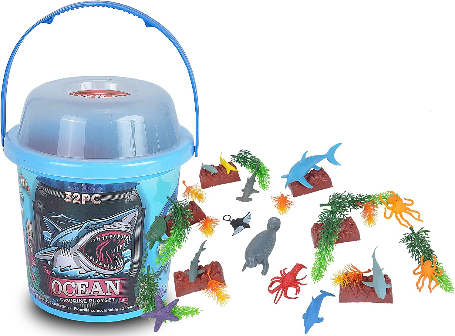 Wild Republic Aquatic Animals Toy Tube Chicago Mall Figures outlet Kids G