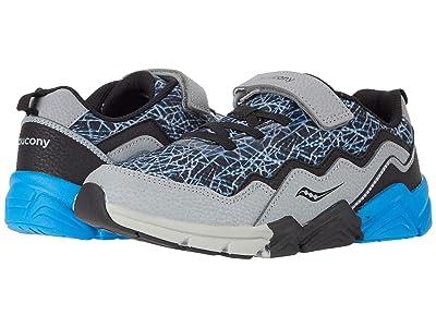 Saucony Kids S-Flash A/C 2.0 (Little Kid/Big Kid) (Grey/Black/Blue) Boys Shoes