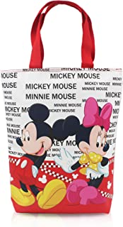 Finex Mickey Mouse and Minnie Mouse Reusable Tote bag large handbag with zipper for women girls kids
