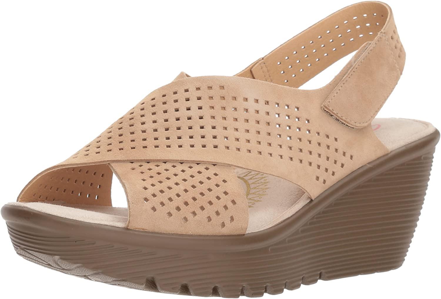 Skechers Womens Parallel - Infrastructure Wedge Sandal