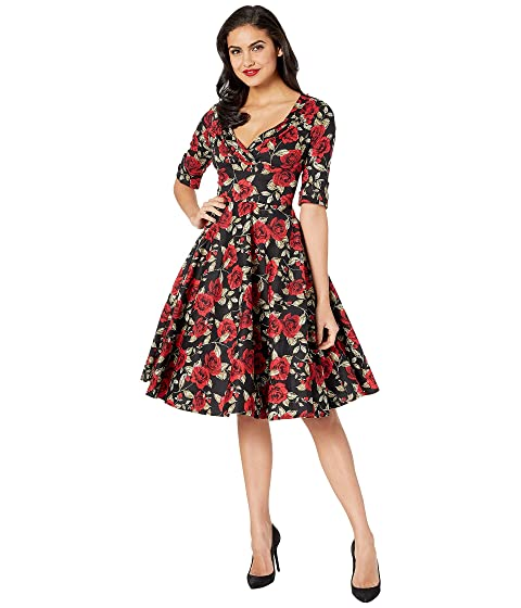 Unique Vintage 1950s Delores Swing Dress with Sleeves at Zappos.com 7e4652469