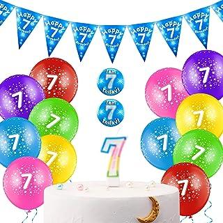 30 Pezzi Set di Decorazioni di Compleanno Include 12 Pollici Palloncini in Lattice Colorati con Nastro, Candela di Complea...