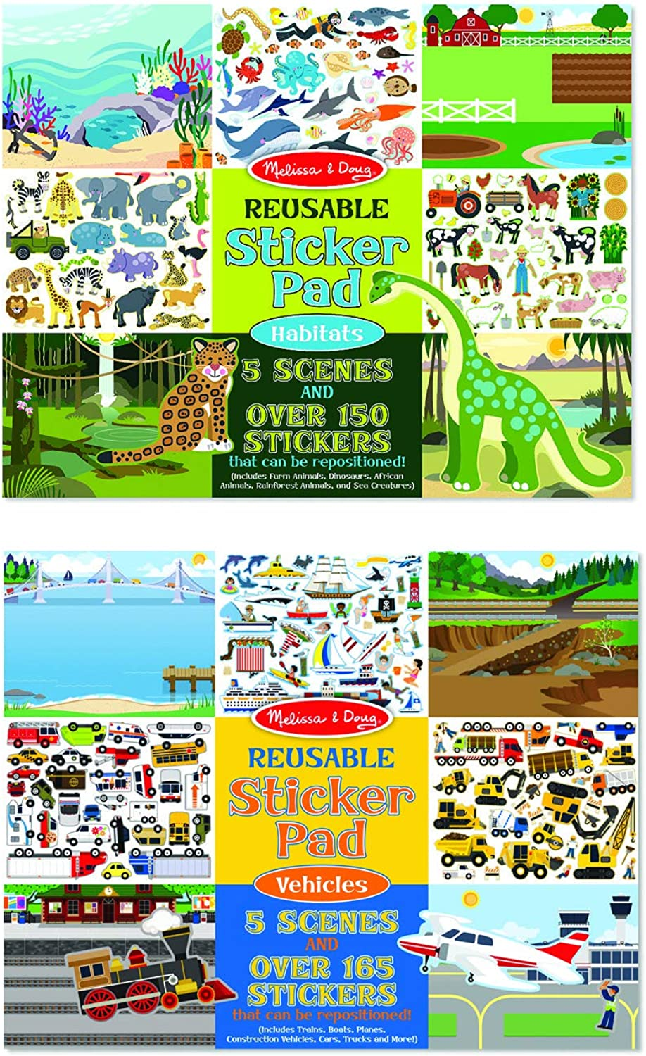 Melissa & Doug Vehicles and Habitats Reusable Bundle Sticker Pad B00DEFBTGC | Hochwertige Produkte