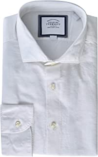 Charles Tyrwhitt Slim Fit Linen Cotton Business Casual Dress Shirt