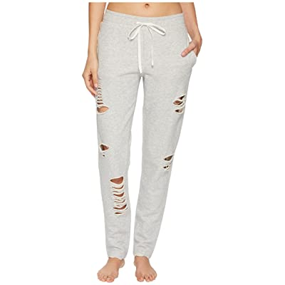 ALO Ripped Sweatpants (Heather Grey/Distressed Holes) Women