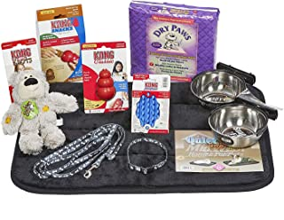 Puppy Starter Kit for Small Dog Breeds, Kit includes: Kong Classic Toys & Treats | Coastal Dog Leash & Collar | MidWest Do...
