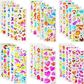 Kids Stickers (1200 +),Stickers for Kids, Kids Scrapbooking, 40 Different Sheets, Random Including Cute Fish and Animals,B...