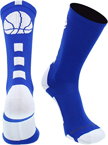 MadSportsStuff Basketball Socks for Boys, Girls, Men, Women- Athletic Crew Socks - Youth and Adult Sizes -Made in The...