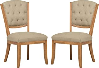 Stone & Beam Bergen Tufted Dining Room Kitchen Chairs, 38.6