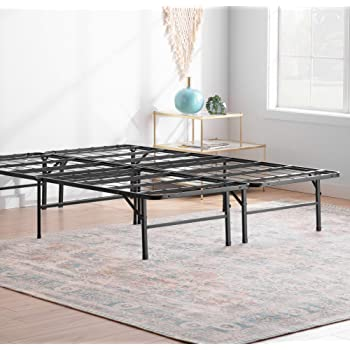 Linenspa 14 Inch Folding Metal Platform Bed Frame - 13 Inches of Clearance - Tons of Under Bed Storage - Heavy Duty Construction - 5 Minute Assembly - Twin