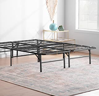 Linenspa�14 Inch Folding�Metal�Platform Bed Frame - 13 Inches of Clearance - Tons of Under Bed Storage - Heavy Duty Construction - 5 Minute Assembly�- Queen