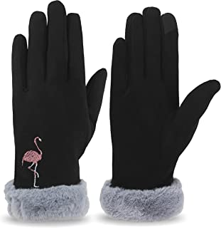 Women Winter Warm Touchscreen Gloves Thermal Soft Lining Elastic Cuff Texting Gloves