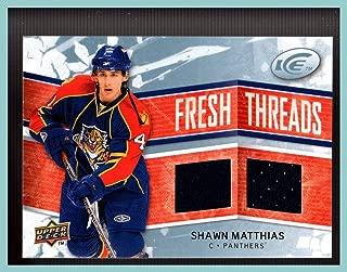 2008-09 Upper Deck Ice Fresh Threads #FTSM Shawn Matthias FLORIDA PANTHERS GAME USED JERSEY