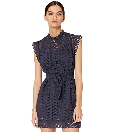 Rebecca Taylor Sleeveless Karina Dress (Navy) Women
