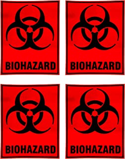 eSplanade Biohazard Biological Hazard Danger Safety Warning Sign Decal Sticker - Easy to Mount Weather Resistant Long Last...
