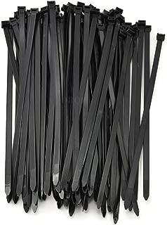 Multi-Purpose Strong Cable Ties (Pack of 100), 50 lbs, Black, Self Locking Zip TIes (8 inch)