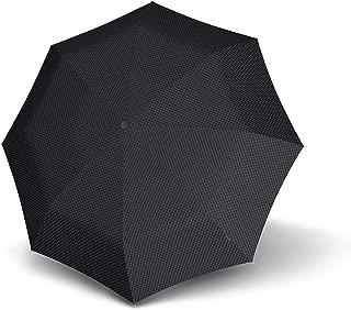 Knirps Mini Piccolo Regenschirm Taschenschirm Schirm Unisex Blau Blue Check Neu