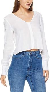 THIRD FORM Women's Concealed V-Neck Shirt, White