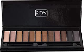 NUDE EYESHADOW PALETTE 12 HIGHLY PIGMENTED SHADES IN MATTE AND SHIMMERING FINISHES