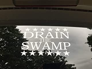 Drain The Swamp Vinyl Decal Sticker Trump Political Car Truck Window