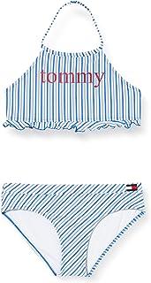 Tommy Hilfiger Logo Stripe Crop TP Costume da Bagno Bambina