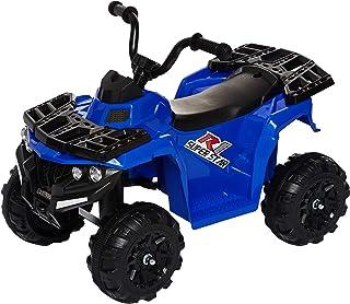 Dorsa 3201-P-BLUE 6V Children's Electric Mini ATV,4 Wheel Ride on Car,Music Early Education,Suspension,LED Lights,Treaded ...