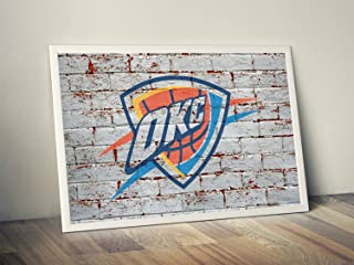 Oklahoma Thunder Limited Poster Artwork - Professional Wall Art Merchandise (More (8x10)