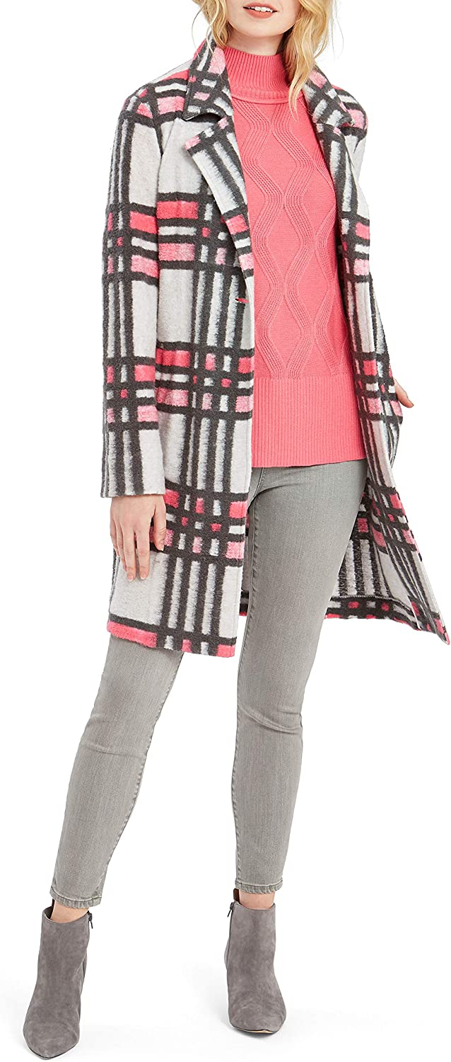 sold out Outstanding NIC+ZOE Women's Check Pop Coat