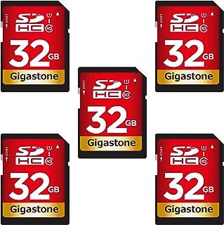 Gigastone 32GB 5枚セット SDカード UHS-I U1 Class 10 SDHC メモリーカード 高速 フルHD ビデオ デジタルカメラ 5pack SD card Full HD