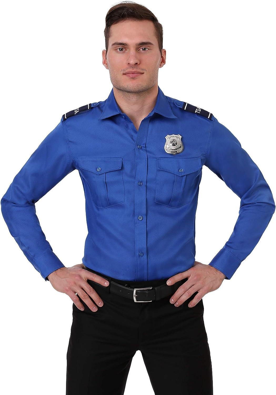 TSA Agent bluee Long Sleeved Costume Shirt Large