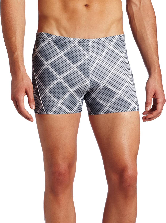 Speedo Award-winning store Men's Diamond Illusion Swimsuit Leg Square Lowest price challenge