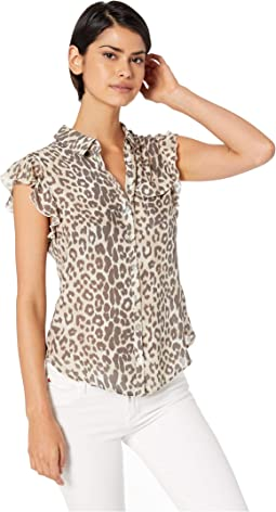 0defff5b2f3 Tribal roll up sleeve printed blouse