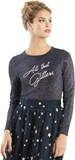 Review Women's All That Glitters Jumper Navy/Silver