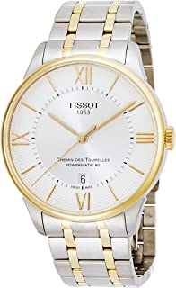 Tissot Men's Chemin Des Tourelles Swiss-Automatic Watch with Stainless-Steel Strap, Two Tone, 20 (Model: T0994072203800)
