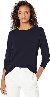 Amazon Brand - Daily Ritual Women's Fine Gauge Stretch Crewneck Pullover Sweater