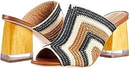 Black/Ecru/Luggage Crochet Embroidered
