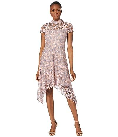 Adrianna Papell Lace Handkerchief Dress