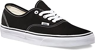Unisex Authentic Black Canvas VN000EE3BLK Skate Shoe