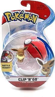 Original Pokemon Clip N Go Eevee + Poke Ball